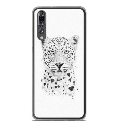 Coque en silicone Huawei P20 Pro - BS Love leopard