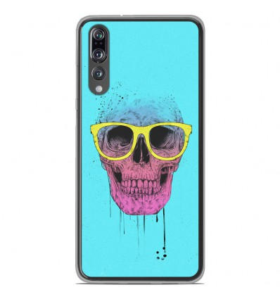 Coque en silicone Huawei P20 Pro - BS Skull glasses