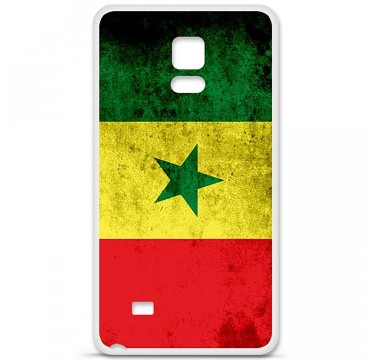 Coque en silicone pour Samsung Galaxy Note 4 - Drapeau Sénégal