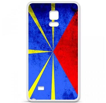 Coque en silicone Samsung Galaxy Note 4 - Drapeau La Réunion