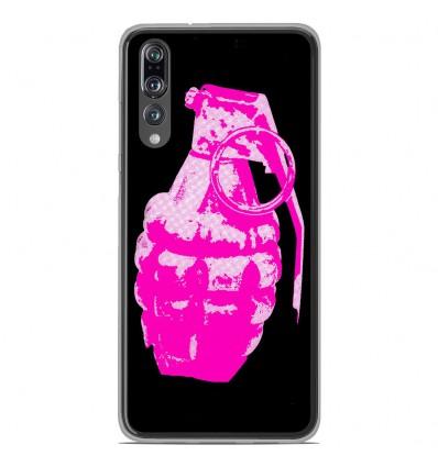 Coque en silicone Huawei P20 Pro - Grenade rose