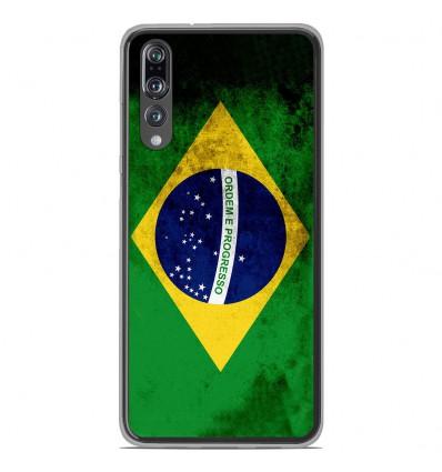 Coque en silicone Huawei P20 Pro - Drapeau Brésil