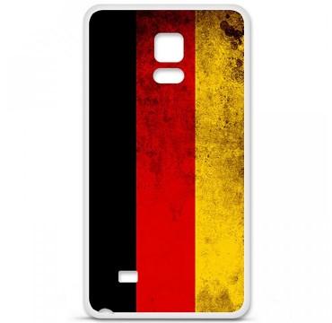 Coque en silicone pour Samsung Galaxy Note 4 - Drapeau Allemagne