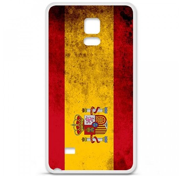 Coque en silicone Samsung Galaxy Note 4 - Drapeau Espagne