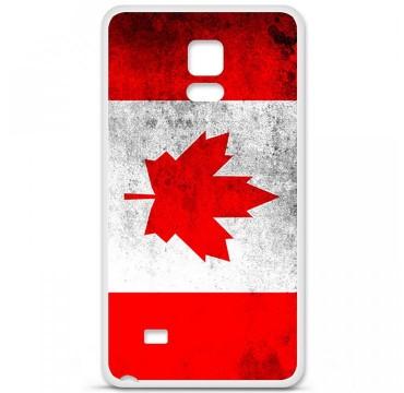 Coque en silicone Samsung Galaxy Note 4 - Drapeau Canada