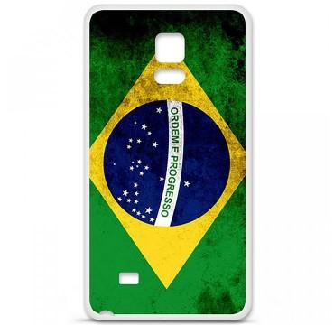 Coque en silicone Samsung Galaxy Note 4 - Drapeau Brésil