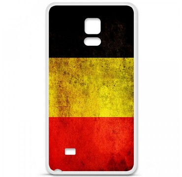 Coque en silicone Samsung Galaxy Note 4 - Drapeau Belgique