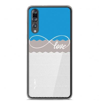 Coque en silicone Huawei P20 Pro - Love Bleu