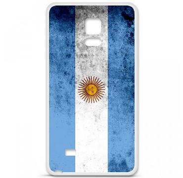 Coque en silicone Samsung Galaxy Note 4 - Drapeau Argentine