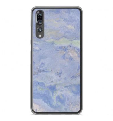 Coque en silicone Huawei P20 Pro - Marbre Bleu