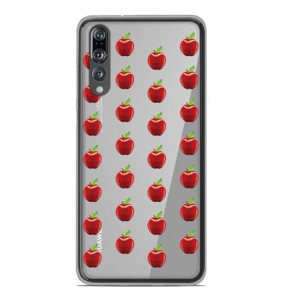 Coque en silicone Huawei P20 Pro - Pommes Gris