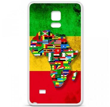 Coque en silicone pour Samsung Galaxy Note 4 - Drapeau Africa Unite