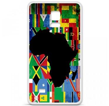 Coque en silicone Samsung Galaxy Note 4 - Drapeau Afrique