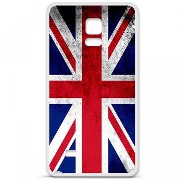 Coque en silicone Samsung Galaxy Note 4 - Drapeau Angleterre