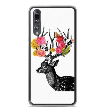 Coque en silicone Huawei P20 Pro - Cerf fleurs
