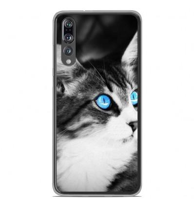 Coque en silicone Huawei P20 Pro - Chat yeux bleu