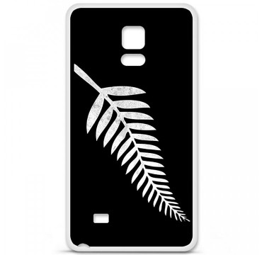 Coque en silicone pour Samsung Galaxy Note 4 - Drapeau All-black