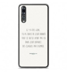 Coque en silicone Huawei P20 Pro - Citation 01