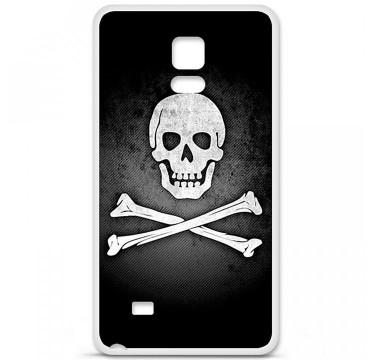 Coque en silicone pour Samsung Galaxy Note 4 - Drapeau Pirate