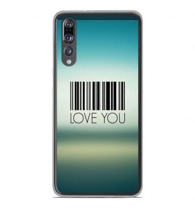 Coque en silicone Huawei P20 Pro - Code barre Love you