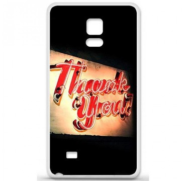 Coque en silicone Samsung Galaxy Note 4 - Thank You