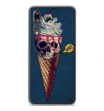 Coque en silicone Huawei P20 Pro - Ice cream skull blue