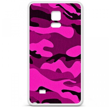 Coque en silicone pour Samsung Galaxy Note 4 - Camouflage rose