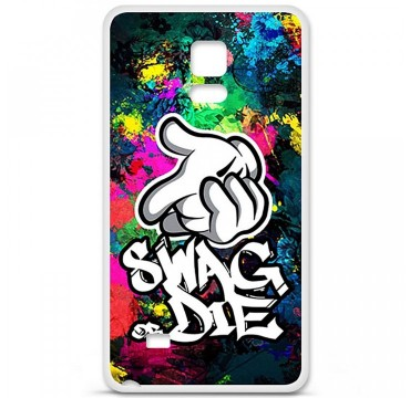 Coque en silicone Samsung Galaxy Note 4 - Swag or die