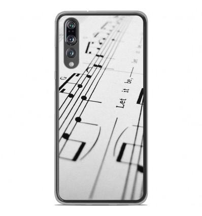 Coque en silicone Huawei P20 Pro - Partition de musique