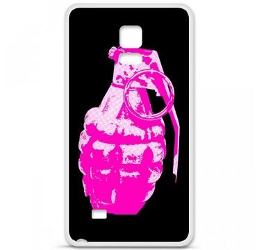 Coque en silicone pour Samsung Galaxy Note 4 - Grenade rose