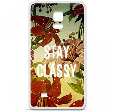 Coque en silicone pour Samsung Galaxy Note 4 - Stay classy