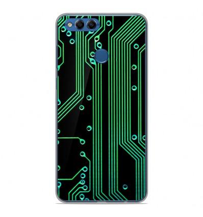 Coque en silicone Huawei Y9 2018 - Texture circuit geek