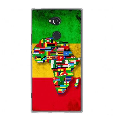 Coque en silicone Sony Xperia XA2 Ultra - Drapeau Africa Unite