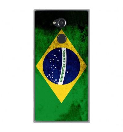 Coque en silicone Sony Xperia XA2 Ultra - Drapeau Brésil