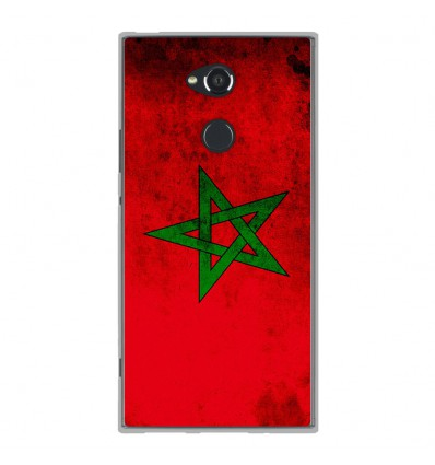 Coque en silicone Sony Xperia XA2 Ultra - Drapeau Maroc