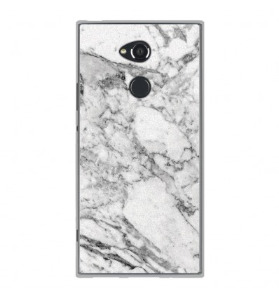 Coque en silicone Sony Xperia XA2 Ultra - Marbre Blanc