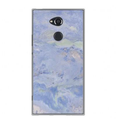 Coque en silicone Sony Xperia XA2 Ultra - Marbre Bleu