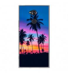 Coque en silicone Sony Xperia XA2 Ultra - Palmiers colorés