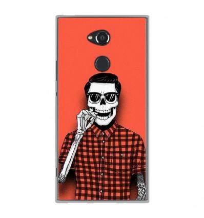 Coque en silicone Sony Xperia XA2 Ultra - Skull Hipster red shirt