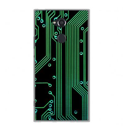 Coque en silicone Sony Xperia XA2 Ultra - Texture circuit geek