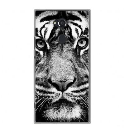 Coque en silicone Sony Xperia XA2 Ultra - Tigre blanc et noir