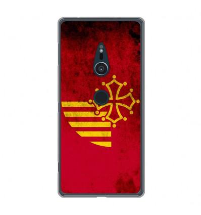 Coque en silicone Sony Xperia XZ2 - Drapeau Languedoc