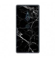Coque en silicone Sony Xperia XZ2 - Marbre Noir
