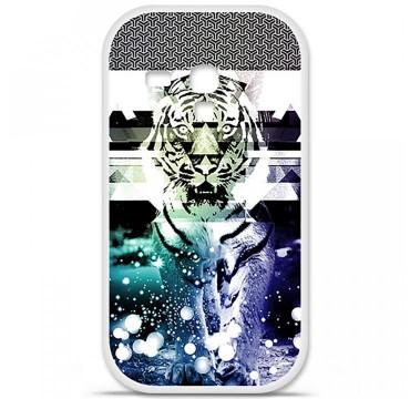 Coque en silicone pour Samsung Galaxy S3 Mini - Tigre swag