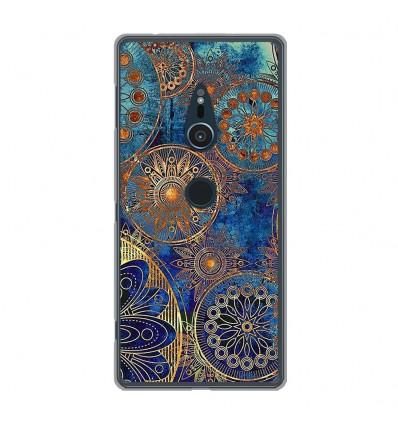 Coque en silicone Sony Xperia XZ2 - Mandalla bleu