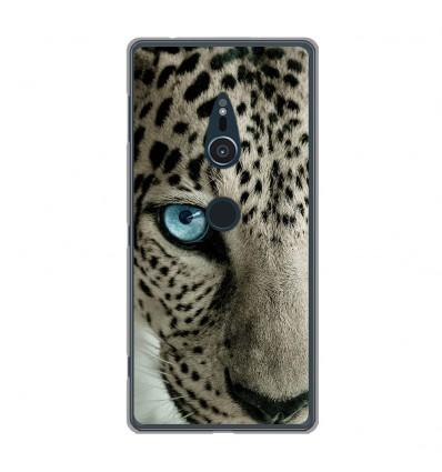 Coque en silicone Sony Xperia XZ2 - Oeil de léopard