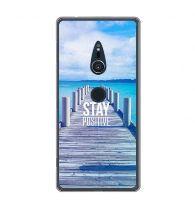 Coque en silicone Sony Xperia XZ2 - Stay positive