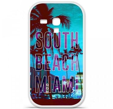 Coque en silicone pour Samsung Galaxy S3 Mini - South beach miami