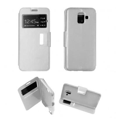Etui Folio Samsung Galaxy A6 2018 - Blanc