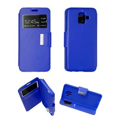 Etui Folio Samsung Galaxy A6 2018 - Bleu